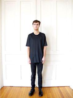 90s Sheer Black Tshirt / Minimal Oversized by AndVintageClothing, $30.00