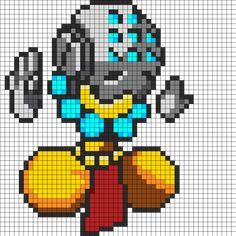 Adorable Spray Zenyatta - Overwatch Perler Bead Pattern