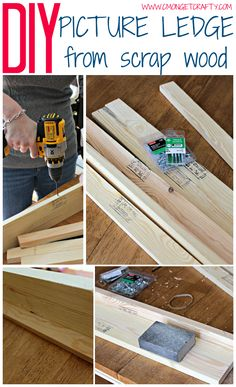 How to Make DIY Picture Ledges - C'mon Get Crafty