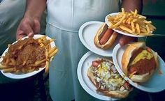The coney island hot dog -- like that served at Lafayette Coney Island, above -- is a Detroit institution.
