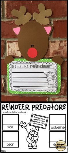 Reindeer crafts and fun printables in English and Spanish.