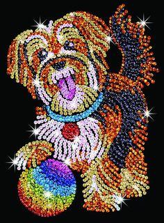 Hobbies | Sequin Art Puppy Craft Kit | Hobbies