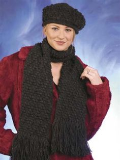 Diamond Hat & Scarf Crochet Pattern