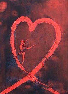Bjørg Thorhallsdottir Motiv 98 x 64 cm Innrammet 119 x 92 cm innrammet med 6,5 cm bred mørk ramme 5 % kunstavgift inkludet i prisen Grafikk, etsning Opplag 80 �... Mona Lisa, Artwork, Painting, Kunst, Work Of Art, Auguste Rodin Artwork, Painting Art, Artworks, Paintings