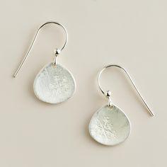 Sterling Silver Dandelion Drop Earrings   World Market