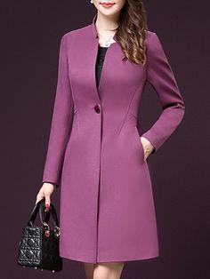 Jiao Miao Femme Plus Size Autumn Winter Casual Warm Overcoat Long Sleeved Windbreaker Brand Classic Trench Coat For Women Dress Outfits, Fashion Dresses, Emo Outfits, Classic Trench Coat, Trench Coats, Women's Coats, Mode Mantel, Corporate Attire, Langer Mantel