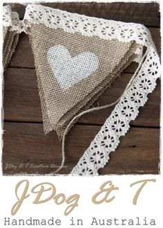 burlap hessian crochet lace bunting country vintage shabby wedding decorations e. burlap he. Burlap Projects, Burlap Crafts, Sewing Projects, Diy Crafts, Burlap Decorations, Diy Projects, Reception Decorations, Lace Wedding Decorations, Lace Decor
