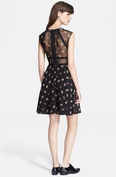 Elizabeth and James 'Tilly' Print Silk Fit & Flare Dress | Nordstrom