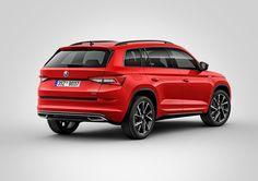 Skoda has revealed two new variants of its recently-launched seven-seat Kodiaq SUV. Both new adaptations will be making their public debut at the Geneva motor show in march. First up is the Sportline, which is based on the standard SE trim level model. Skoda Kodiaq, Volkswagen Group, Vw, Car Posters, Poster Poster, Geneva Motor Show, Auto News, Car And Driver, New And Used Cars
