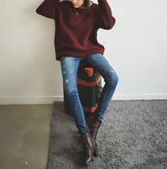 Cute and Casual Outfit Estilo Fashion, Look Fashion, Womens Fashion, Teen Fashion, Fall Winter Outfits, Autumn Winter Fashion, Looks Style, Style Me, Mein Style