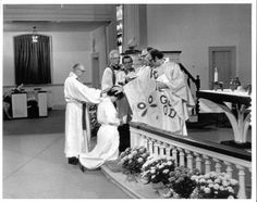 Ordination of Elizabeth Platz, first woman ordained in the Lutheran Church in America, 1970. #ELCA #ThrowbackThursday
