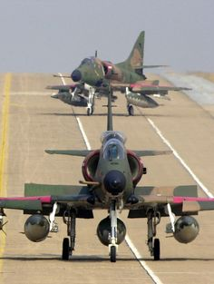 A-4 Skyhawks, cool little fighters.