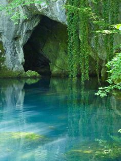 mermaid water, pond, cove, cave inspiration for fairy garden