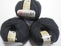 Popular summer cotton yarn 55% pure cotton/45% premium acrylic blend produces a lovely soft garment without the weight of some cotton yarns. Weight Sport (12 wpi), Gauge - 24.0 sts = 4 inches, Needle size US 4 - 5 or 3.5 - 3.75mm