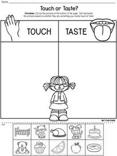 Five Senses Activities (Kindergarten) - Five Senses Activities (Five Senses Kindergarten, Five Senses Worksheets) - Five Senses Kindergarten, Five Senses Preschool, 5 Senses Activities, My Five Senses, Preschool Learning Activities, Kindergarten Science, Preschool Worksheets, English Activities For Kids, Five Senses Worksheet