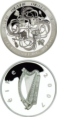 Detailed images and information about coin series Silver 10 euro coins from Ireland. The series content silver coins and the coins are of Proof quality. Visit the best collector and commemorative coin website: The Collector Coin Database.