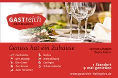 Gastreich Beilngries - Anzeige und Aktionsbroschüre Alcoholic Drinks, Wine, Food, Advertising, Ad Home, Essen, Liquor Drinks, Meals, Alcoholic Beverages