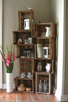 An idea for these old fruit crates I have!