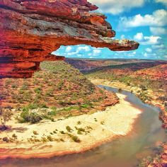 A seriously spectacular view of Kalbarri National Park in Western Australia ....the amazing gorges and formations here are carved by the Murchison River.