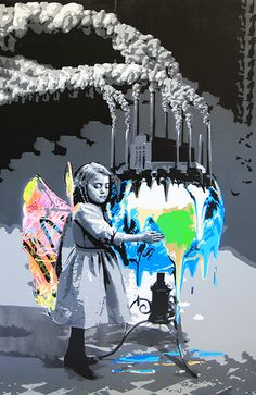 "KURAR street artist artwork named "" CRY FOR A LOST EARTH "" more details on ; kurar.fr/#home"