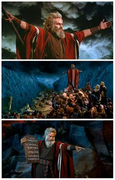 The Ten Commandments - loved this movie... used to watch it during Christmas time as a family when it showed on TV :)