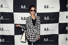 Vogue Women Long Sleeve Houndstooth Lapel Tunic Cardigan Jacket Blazer #Unbranded #Trench