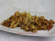 Karfiol indiai fűszerrel • Recept   szakacsreceptek.hu Cauliflower, Chicken, Vegetables, Ethnic Recipes, Food, Head Of Cauliflower, Veggies, Cauliflowers, Veggie Food