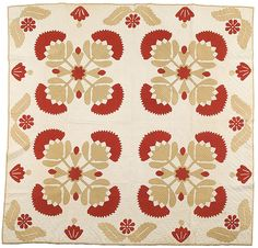 <i>Whig Rose</i> Variation Appliquéd  Quilt, (2007 FallAmericana:Fine&DecorativeArts, Oct 12&13)