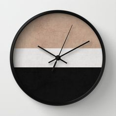 Buy classic - natural, cream and black by Her art as a high quality Wall Clock. Worldwide shipping available at Society6.com. Just one of millions of…