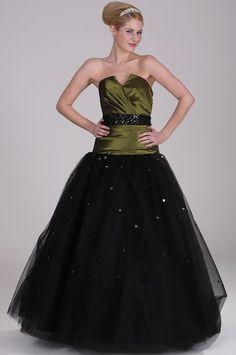 Princeznovské šaty s olivovozeleným korzetom S00121