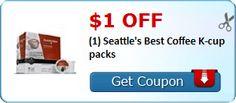 $1.00 off (1) Seattle's Best Coffee K-cup packs