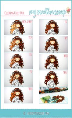 How to Color Curly Hair using Copic Markers | Hair – YR04, YR07, YR09, YR14, E17, E37, W9