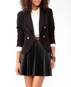 Double Breasted Blazer | FOREVER21 - 2021840425- I generally enjoy this whole outfit.