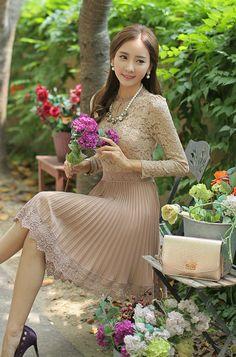 Dress by #Styleonme #feminine #ootd #koreanfashion