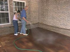How to Apply Concrete Stain : How-To : DIY Network