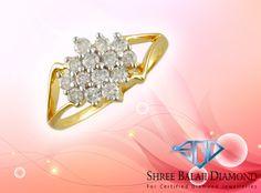 14K Gold Ring with 0.90 ct Belgium Cut Diamonds