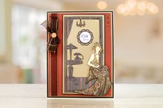 Art Deco by Tattered Lace brings you a new beautiful range of Art Deco dies to use for every occasion. For more information visit: www.tatteredlace.co.uk Art Deco Cards, Tattered Lace Cards, Lace Art, Glitz And Glam, Projects To Try, Clock, Card Ideas, Classic, Range