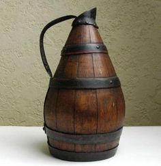 Antique French staved wine jug...