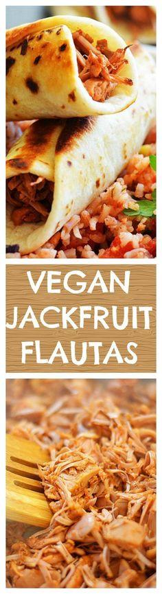 Jackfruit Flautas with Sweet Corn Sauce - TheVegLife
