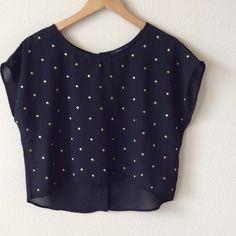🆕😎SASSY😎 BLACK CROP TOP!!! Sassy black button back crop top!!! Tops