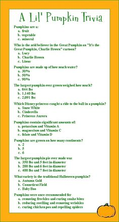 Pumpkin Trivia for a fall baby shower and great stuff!!! http://pinterest-server3.blogspot.com