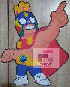Uno de los personajes del Juego Brawl Stars , El Primo.en 50 cm Cousins, Jelly Beans, Game, Presents, Projects, Manualidades