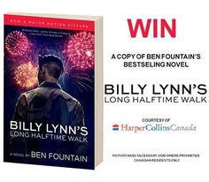 Want to win a copy of Ben Fountain's bestselling novel courtesy of HarperCollins Canada? Just like and comment below telling us who plays Billy's sister in the new film for your chance to win – https://www.facebook.com/SonyPicturesCanada/ **Contest open to Canadian residents only.