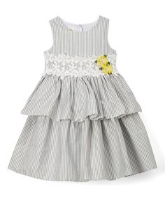 This Gray & White Lace Sleeveless Dress - Infant & Girls is perfect! #zulilyfinds