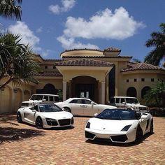 White dream cars