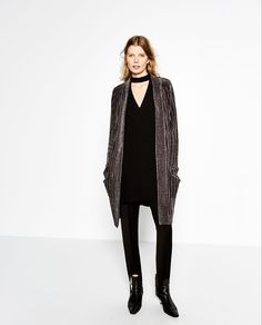 Image 1 of LONG CHENILLE JACKET from Zara