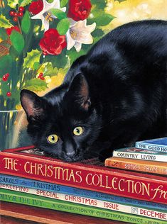 Tuxedo Cat ACEO Print Winter Perch By Irina Garmashova