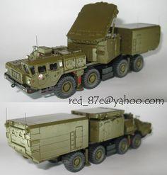 S-300PMU (SA-10C GRUMBLE) 30N6 MAZ 543 S300 Radar RPN30 UdSSR - 1:87 HO