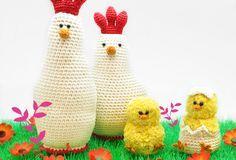 Hühnerfamilie häkeln Ostern