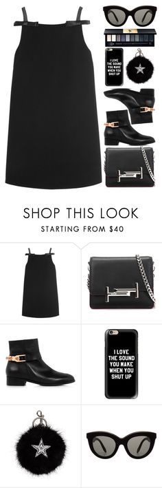 """Mistaken Rockstar"" by egordon2 ❤ liked on Polyvore featuring Miu Miu, Tod's, Eugenia Kim, Casetify, STELLA McCARTNEY, Victoria Beckham and Yves Saint Laurent"